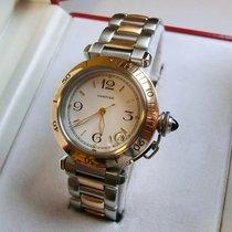 Cartier PASHA Automatikuhr Stahl/Gold Ref:1034