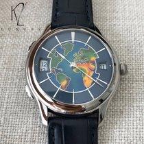Laurent Ferrier Galet Traveller Cloisonne Enamel - World Map -...
