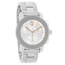 Movado Bold Ladies Silver Dial Swiss Chronograph Quartz Watch...