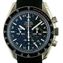 Omega Speedmaster HB-SIA Co-Axial GMT Chronograph Titan...