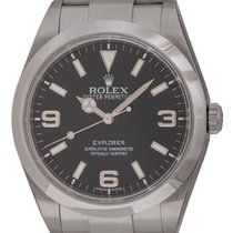 Rolex : Explorer 39MM :  214270 :  Stainless Steel : black dial
