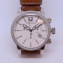 Burberry Utilitarian Swiss Chronograph Tan Leather Strap 42mm...