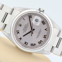 Rolex Datejust Stainless Steel Domed Bezel Silver Roman Dial...