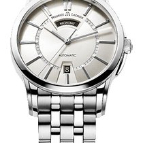 Maurice Lacroix Pontos Day/Date Silver Dial Silver Index,...