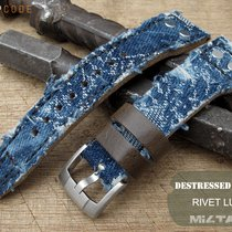 IWC Big Pilot Replacement Band, Distressed Navy Denim