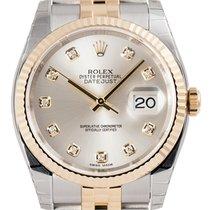 롤렉스 (Rolex) Rolex DateJust 36 Steel and Yellow Gold Silver/Dia...