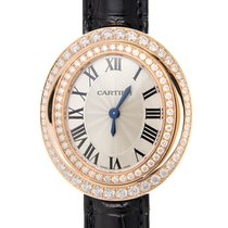 Cartier Hypnose 18 K Rose Gold With Diamonds Silver Quartz...