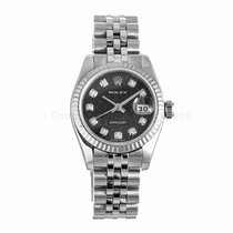 Rolex Datejust Ladies 26MM Diamond Jubilee Dial Watch 179174...