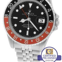 Rolex GMT-Master II Coke Black Red Stainless 16710 40mm Date