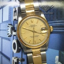 Rolex Datejust 18k Yellow Gold/Steel Tapestry Dial Midsize...