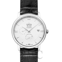 Omega De Ville Prestige Power Reserve Silver Steel/Leather 39.5mm