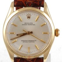 Rolex 1977 Gents 14kt Yellow Oyster Perpetual Silver Dial