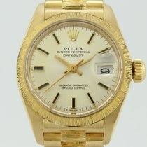 Rolex VINTAGE OYSTER - PERPETUAL DATEJUST PRESIDENT LADY GOLD 750