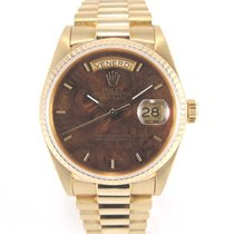 """Rolex Day-date 18038 """"Wood Mahogany/acajou dial"""" with..."""