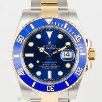 Rolex Submariner SS/18K Gold Ceramic Blue Dial Mens Watch