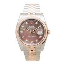 롤렉스 (Rolex) Datejust 18k Rose Gold And Steel Dark Brown...