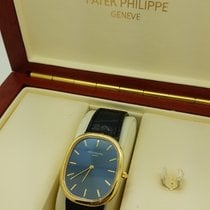 Patek Philippe Ellipse  3738 18k Yellow Gold Genuine Leather...
