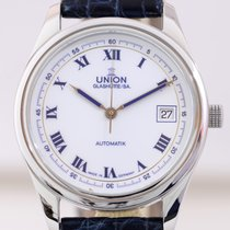 Union Glashütte Tradition Stahl blue roman dial Kaliber 26-11...