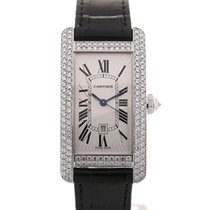 Cartier Tank Americaine 42 Leather Gemstone