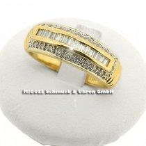 1 Damenring in Gelbgold 18 ct mit Diamanten