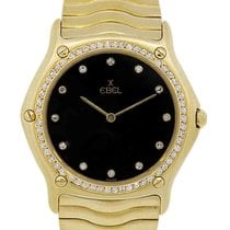 Ebel Classic Wave 18k  Gold Factory Diamond Wristwatch