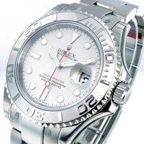 Rolex 16622 Steel Platinum Yachtmaster Mens 40 Mm Oyster Bracelet