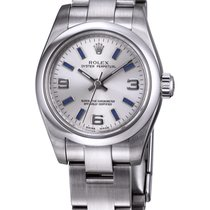 Rolex Nondate Siver Dial Blue Hour Markers Ladies Watch 176200