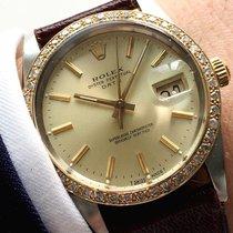 Rolex Servicierte Rolex Date Datejust mit Diamantlünette 34mm