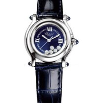 Chopard 278245-3007 Happy Sport in Steel - with Blue Dial and...