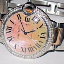 Cartier Ballon Bleu 36 MM Midsize 18K Rose Gold Diamonds