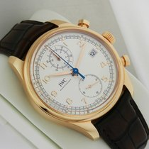 IWC Portuguese Chronograph Classic 42mm 18K Rose Gold IW390402...