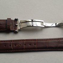 IWC New 20/18 brown strap and Double Folding Clasp 18mm