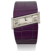 Cartier | A Lady's White Gold And Diamond-set Eccentric...