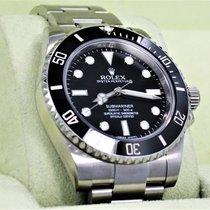 Rolex Submariner 114060 Steel Oyster Black Ceramic Bezel...
