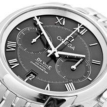 Omega DE VILLE GENTS Co-Axial.Chronograph. Steel. Black Dial