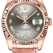 Rolex Datejust 36mm Everose Gold 116135 Steel Roman