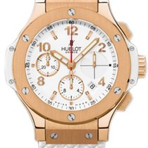 Hublot Big Bang Porto Cervo 18K Rose Gold Rubber Chronograph...