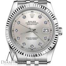 Rolex 31mm Rolex Datejust Silver Color Dial With Diamond...
