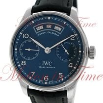 IWC Portuguese Annual Calendar, Midnight Blue Dial - Stainless...