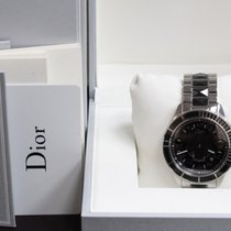 Dior Christal Cd115510 Stainless 42mm Black Sapphires Box...