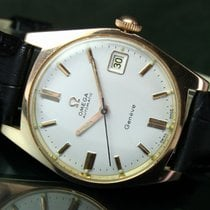 Omega Seamaster 565 Automatic Q/S Date Roll Gold Steel Mens Watch