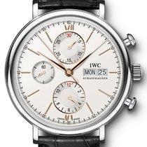 IWC Schaffhausen IW391022 Portofino Chronograph Silver Plated...