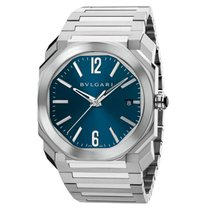 Bulgari BVLGARI Octo Solotempo Blue Dial Steel Automatic Watch