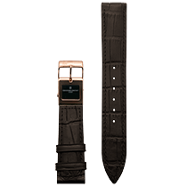 Frederique Constant E-Strap Dark Brown Rose Gold Plated 20mm