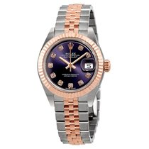 Rolex Lady-Datejust Aubergine Diamond Dial Automatic Ladies Watch