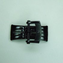 Zenith 18mm Stainless Steel Black Deployment Clasp (Buckle)