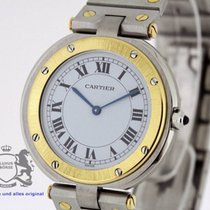 Cartier Santos Ronde Steel Gold 32mm SERVICED by Cartier Warranty