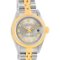 Rolex Datejust Steel 18k Yellow Gold Roman Dial Ladies Watch...