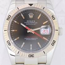 Rolex Datejust Turnograph Weißgoldlünette black dial red date...