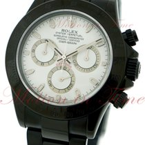 Rolex Cosmograph Daytona, White Dial - Black PVD Steel on...